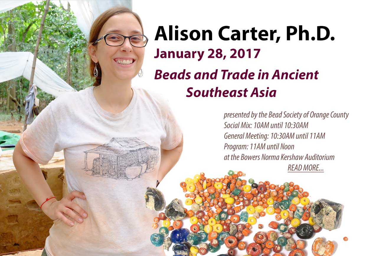 Alison Carter Bead Society Speakers Beads and trade Southeast Asia